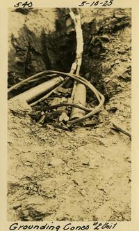 Lower Baker River dam construction 1925-05-10 Grounding Cones #2 Unit