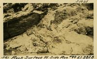 Lower Baker River dam construction 1925-05-10 Rock Surface W. Side Run #99 El.282.8