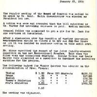 AS Board Minutes 1935-01