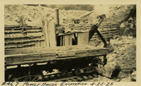 Lower Baker River dam construction 1925-04-25 Power House Excavation