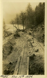 Lower Baker River dam construction 1924-11-15 Railroad