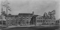 1946 Men's Residence Hall: Architect's Drawing