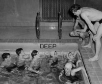 1946 Junior High Students In Pool Supervised by Leonard Barnhill