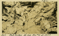 Lower Baker River dam construction 1925-05-03 Rock Surface W. Side Run #92 El.265