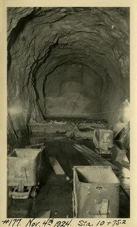 Lower Baker River dam construction 1924-11-04 Sta. 10+75.2 Intake tunnel