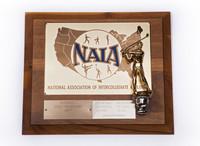 Golf (Men's) Plaque: NAIA District 1 Champions, 1977