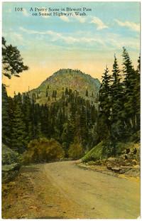 Color postcard image of Blewett Pass