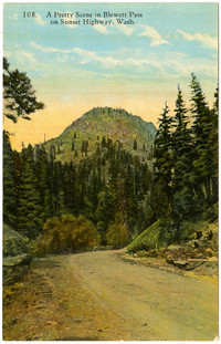 Color postcard image of Blewett Pass