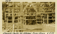 Lower Baker River dam construction 1925-06-11 Concrete Chutes for Columns Power House