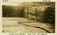 Lower Baker River dam construction 1925-05-23 Concrete Surface Run #112 El.300.8