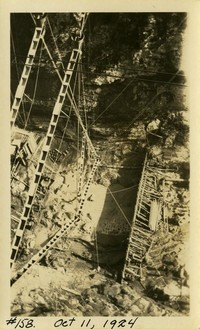 Lower Baker River dam construction 1924-10-11 Aerial view of concrete form