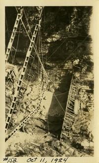 Lower Baker River dam construction 1924-10-11 Aerial view of concrete form