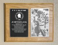 Hall of Fame Plaque: Jo Metzger-Levin, Women's Basketball (Forward), Class of 1990