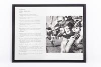 Football Photograph: Jon Brunaugh, Running Back, #26, honors and records, 1992/1995