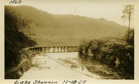 Lower Baker River dam construction 1925-11-18 Lake Shannon (with railroad trestle)