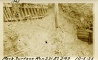 Lower Baker River dam construction 1925-10-05 Rock Surface Run 231 El.293
