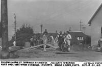 Building Maple St. Sidewalk