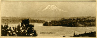 Mt. Baker in the distance, viewed over the San Juan Islands, as a cover for a small calendar