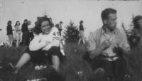 1947 Campus Day: Students Sitting in Grass
