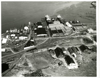 Aerial view Pacific American Fisheries complex in Fairhaven (Bellingham, Washington)