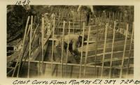 Lower Baker River dam construction 1925-07-28 Crest Curve Forms Run #175 El.389