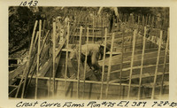 Lower Baker River dam construction 1925-07-28 Crest Curve Forms Run #175 El.389