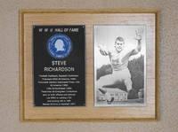 Hall of Fame Plaque: Steve Richardson, Football (Running Back), Baseball (Outfielder), Class of 1985