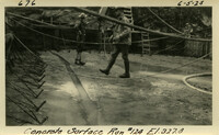 Lower Baker River dam construction 1925-06-05 Concrete Surface Run #124 El.327.8