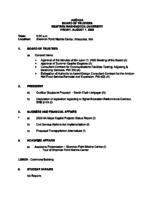 WWU Board minutes 2003 August
