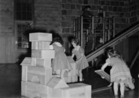 1943 Playing With Blocks In The Primary Grades Play Room