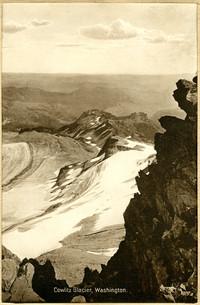 View westward from above Cowlitz Glacier, Mt. Rainier, WA