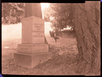 Negative image of gravestone of James Tilton Pickett engraved on the front as follows: