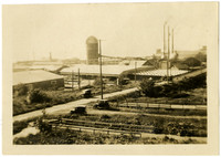 View of grounds and facilities of lumber company