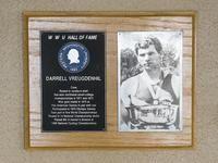 Hall of Fame Plaque: Darrell Vreugdenhil, Crew, Class of 1977