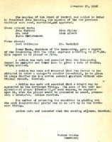AS Board Minutes 1933-11