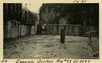Lower Baker River dam construction 1925-05-06 Concrete Surface Run #95 El.269.3
