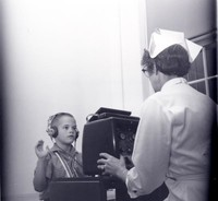 1960 Boy Having His Hearing Tested
