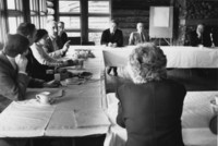 1984 Faculty and Administrators meet at Lakewood