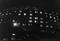 1967 Mathes Hall at Night