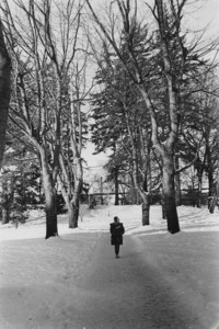 1970 Student in Snow