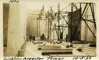 Lower Baker River dam construction 1925-10-05 Lightning Arrestor Tower