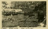 Lower Baker River dam construction 1925-01-13 Dam Site