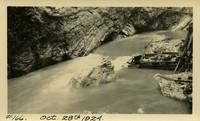Lower Baker River dam construction 1924-10-28 Flood damage, rock formation