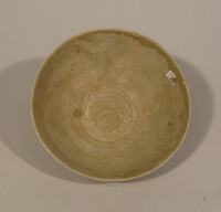 Bowl with molded lotus exterior