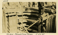 Lower Baker River dam construction 1925-05-23 Turbine Foundation Forms