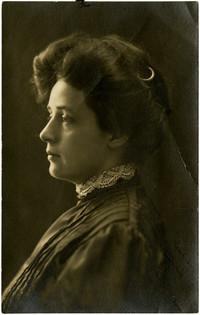 "Studio portrait of Charlotte ""Lottie"" Roeder Roth in profile"