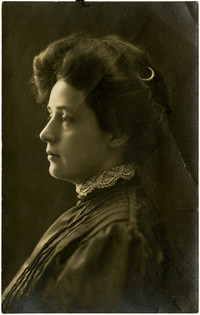 "Studio portrait of Charlotte ""Lottie"" Roeder Roth in profile"