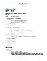 WWU Board of Trustees Packet: 2016-06-10