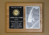 Hall of Fame Plaque: Lorrie Post-Hodge, Vollyeball (Outside Hitter), Class of 2000