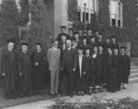 1933 Governor Clarence D. Martin and President Charles H. Fisher With First Bachelor of Arts in Education Recipients